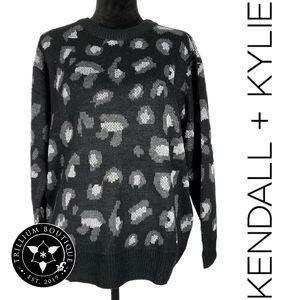 Kendall + Kylie Sparkle Animal Print Sweater S-XXL